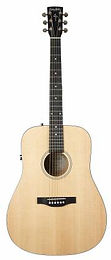 Simon & Patrick Woodland Concert Dreadnought Guitar, w/QIT and Soft Case