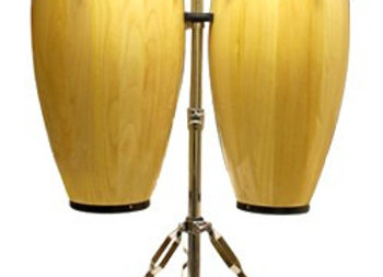 Mano Percussion Conga Set 10 & 11'' with Stand - Natural
