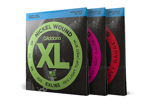 D'Addario Nickel Round Wound LONG SCALE Bass Strings