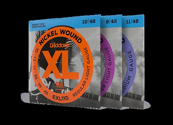 D'Addario EXL- Nickel Wound Electric Strings