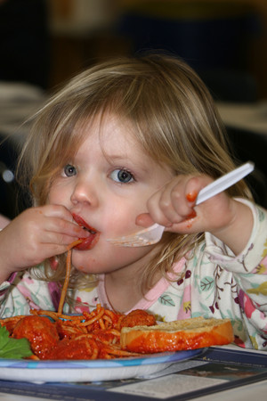 Satisfied Customer Seminarian Spaghetti Dinner