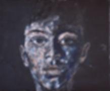 L'Ado. Huile sur toile, d'après l'original du photographe Minds photographer.
