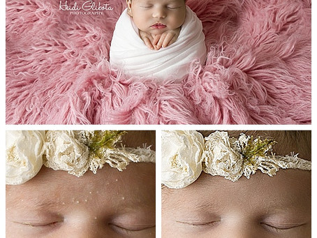 Photoshop Blemishes Away on Newborn Skin