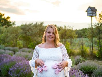 Kitchener Maternity Session at a Lavender Farm