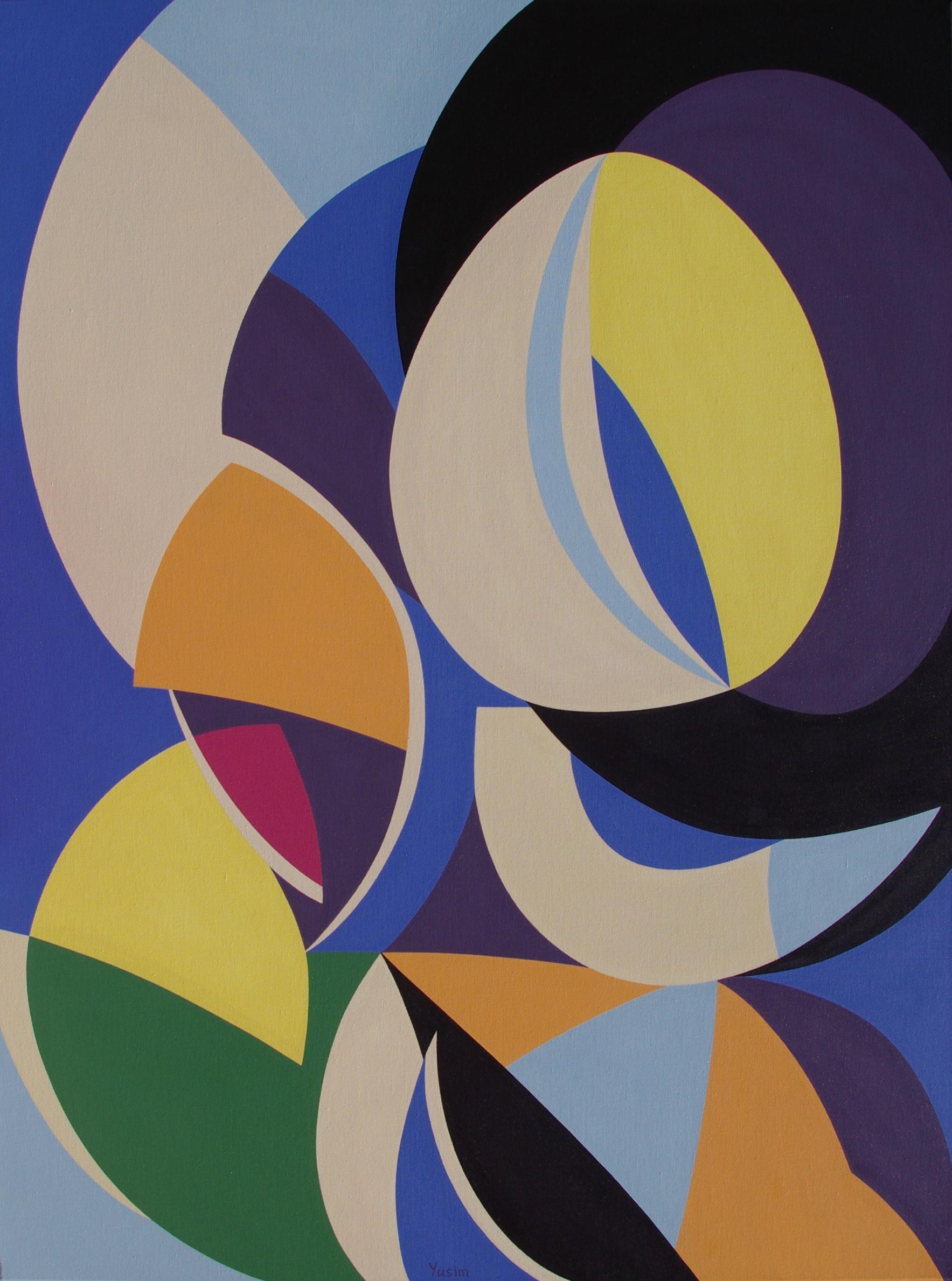 Improvisation 201. 2016. geometric abstraction painting by genia yusim