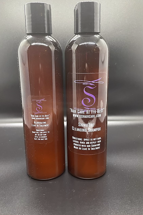 Signature Cleanser and Economy Leave In Treatment