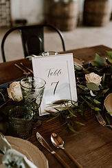 Table Numbers and Frames