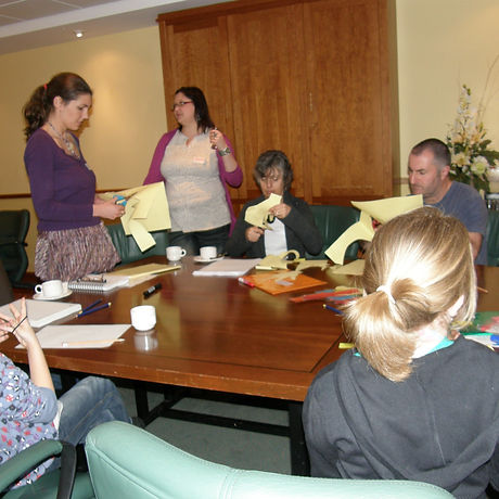 Picture of me working with young carers.