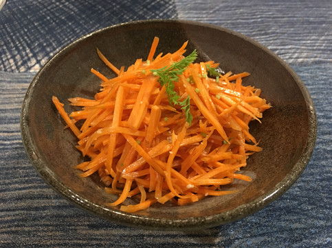 Carrot salad with miso dressing