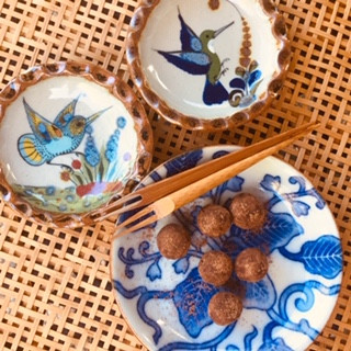 Sake kasu chocolate balls