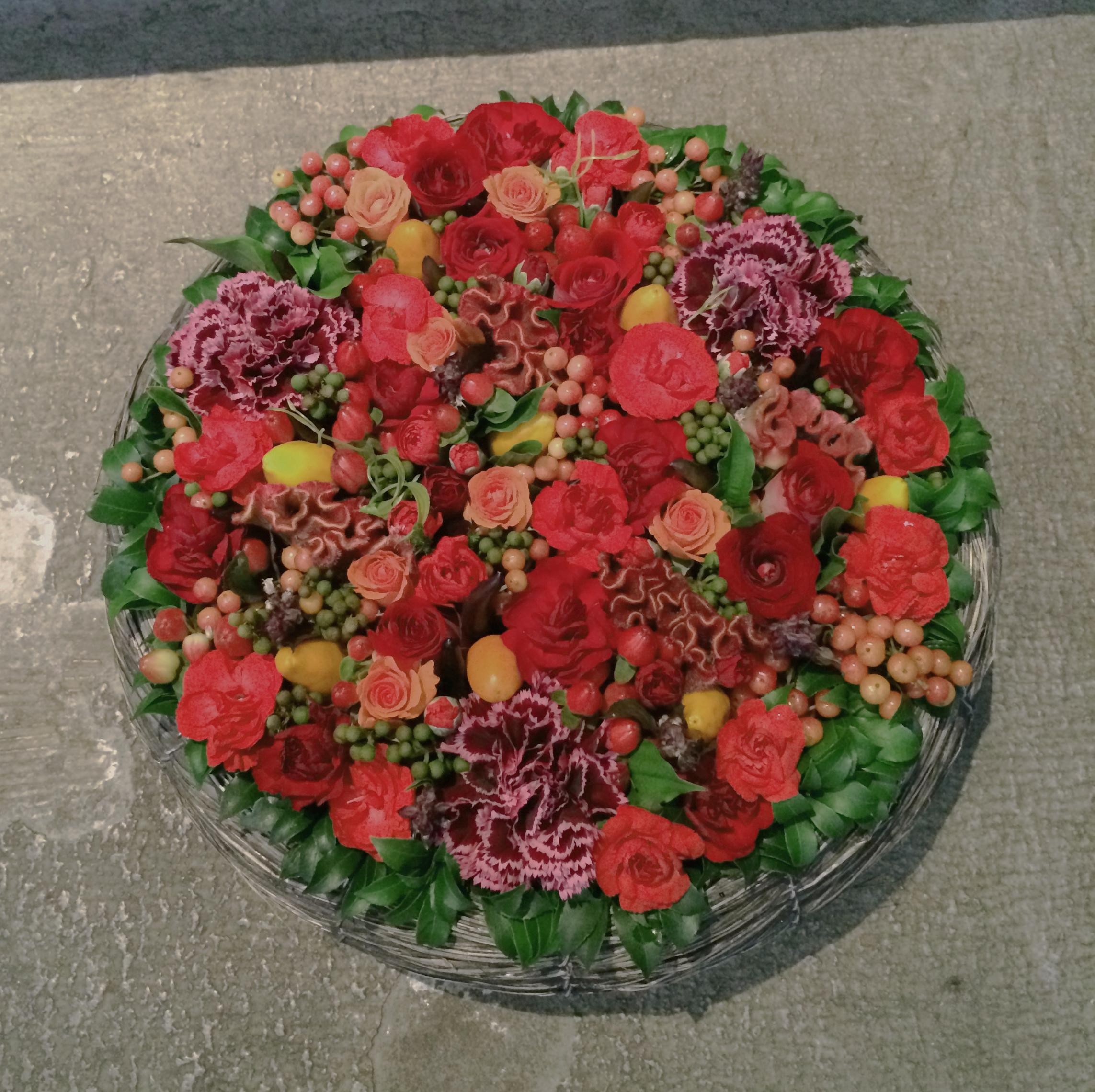 Scarlet & spice arrangement