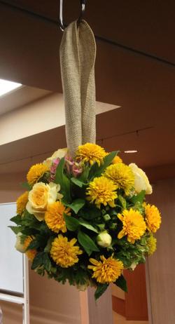 Round bridesmaid bouquet