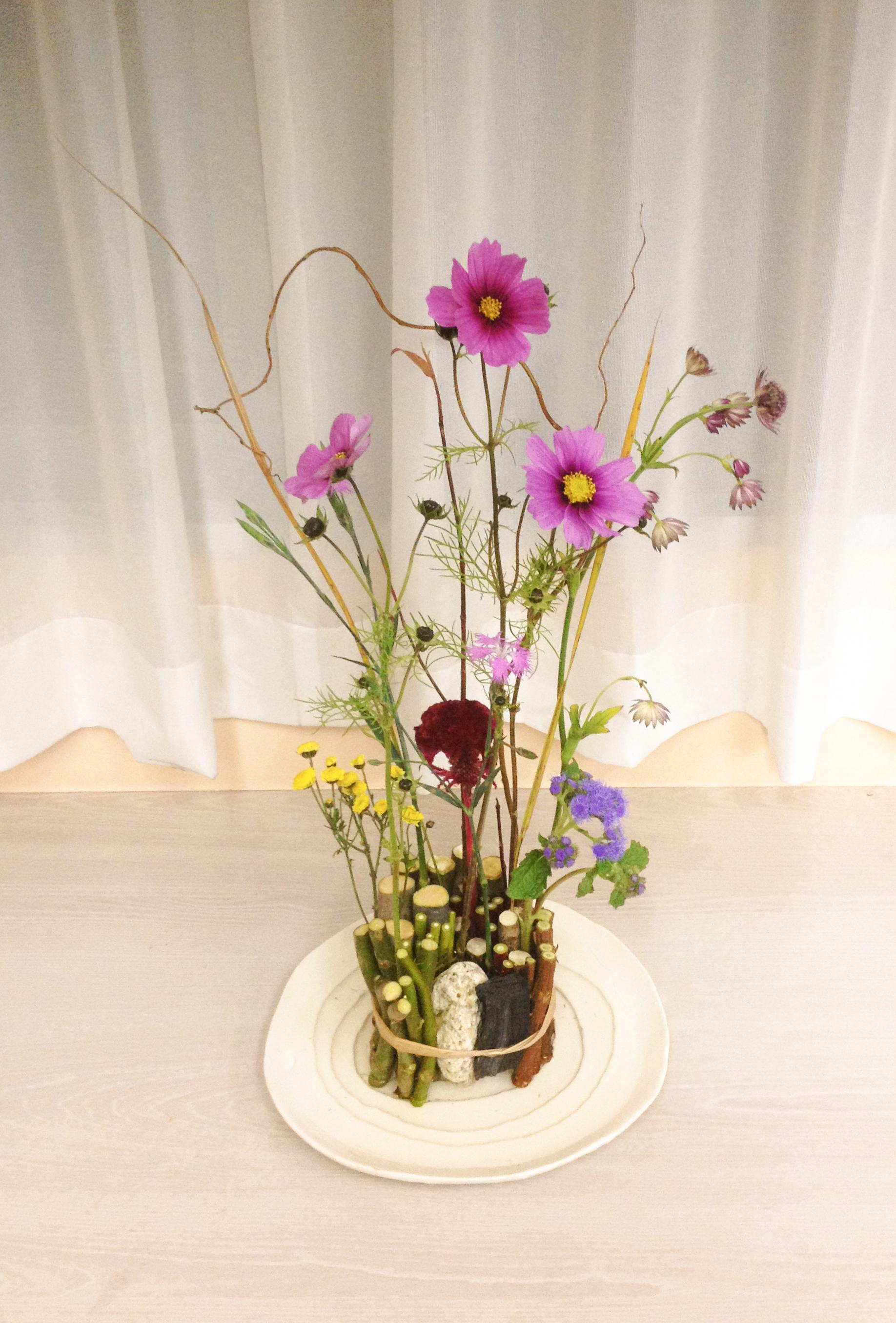 Natural hanakubari arrangement