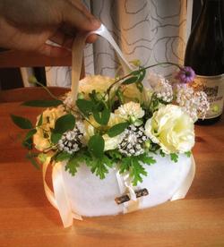 Flower girl cotton basket