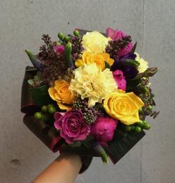 Yellow & purple bouquet