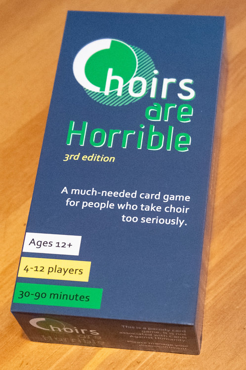 Choirs Are Horrible, the Card Game