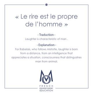 5-OMM-French Proverbs-Le rire est le propre de l'homme