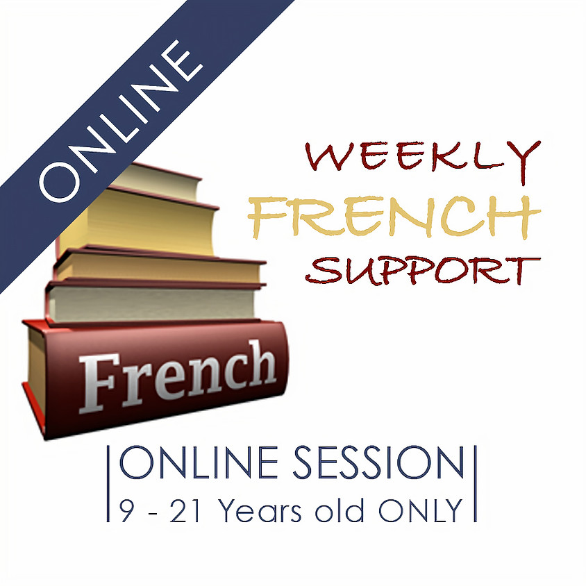 Weekly French Support - 2 hour ONLINE French Support