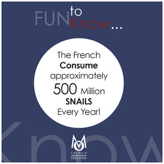 2-OMM-FUN to Know!-The French consume approximately 500 Million Snails every year!
