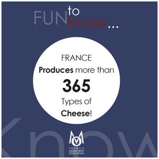4-OMM-FUN To Know!-FRANCE produces more than 365 types of cheese!