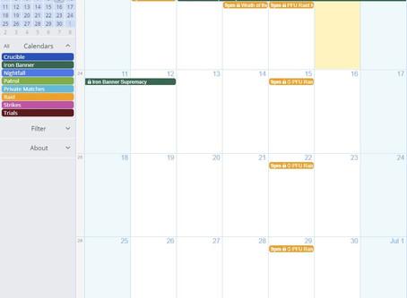 Using the Calendar