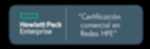 Certificación Comercial en Redes HPE