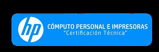 Certificación Técnica Cómputo Persnal e Impresoras
