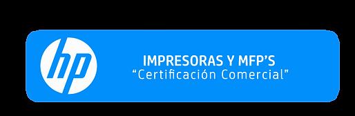 Certificación Comercial Impresoras y MFPS
