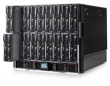 Carcasas HPE BladeSystem c7000  Factor de forma: 10U Soporta hasta 16 servidores BladeSystem