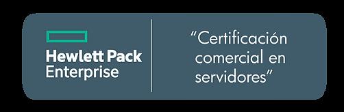 Certificación Comercial en Servidores HPE