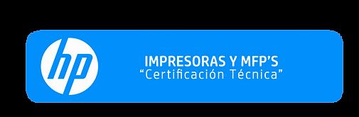 Certificación Técnica Impresoras y MFPS
