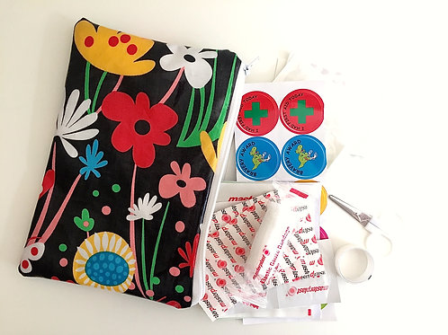 Flowers and Butterflies First Aid Pouch with kit