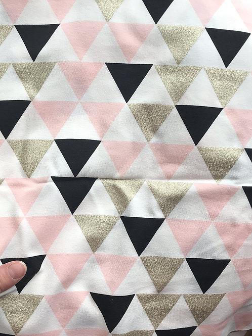 Metallic Triangles Soft Pink Sweat Jersey