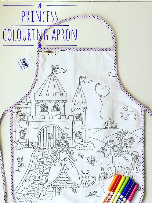 Colouring Apron -  Princess