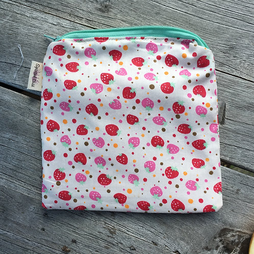 Mini Strawberries Zipper Snack Pouch