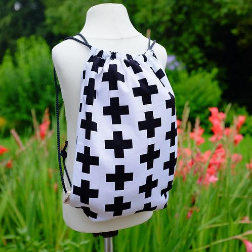 Swiss Cross Monochrome Gym Bag