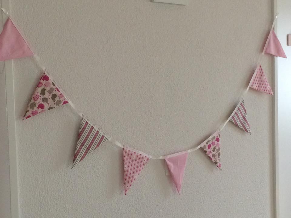 Pink Nursery Bunting