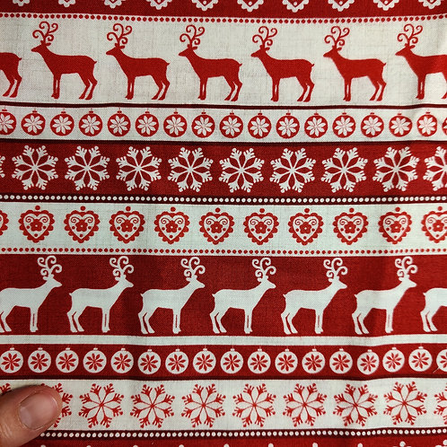 Snow and Deer - Reusable Face Covering