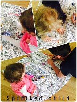 Busy Colouring Play Mats...