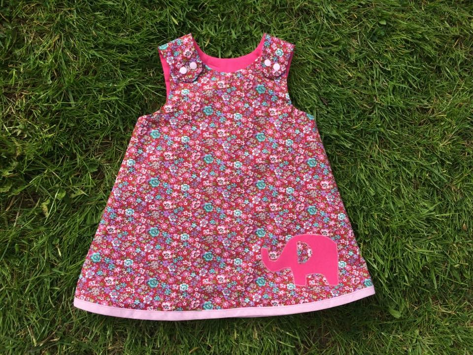 Elephant Applique A Line Dress