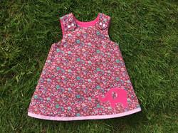 Elephant Applique A Line Dress