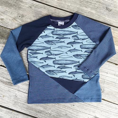 Organic Whale Block T-Shirt