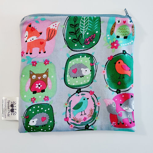 Forest Faces Snack Pouch