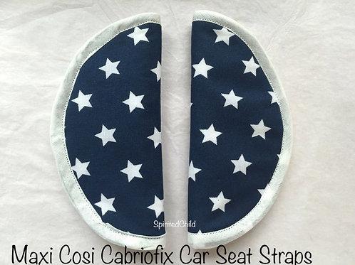 Navy Stars Round Slip on Strap Covers