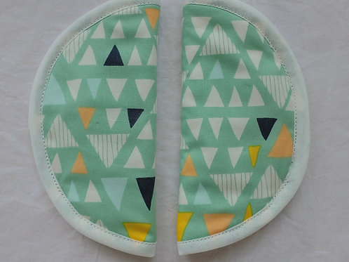 Geometric Triangles Round Slip on Strap Covers