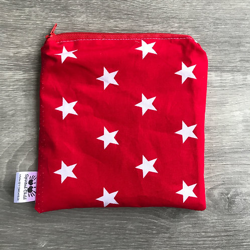 Red Stars Snack Pouch