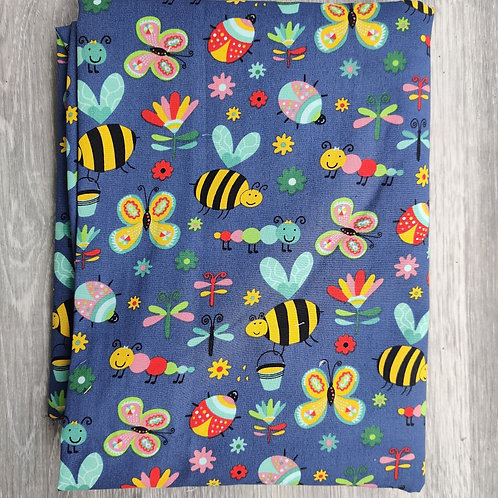 Bees on Blue Reusable Face Covering