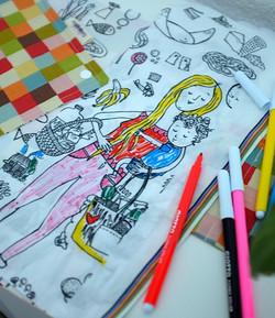 Multi Coloured Square Busy Colouring