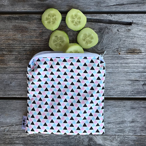 Geometric Triangles Snack Pouch