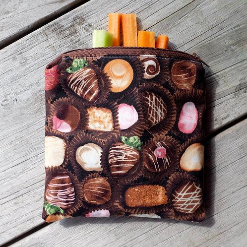 Chocolate Truffle Zipper Snack Pouch